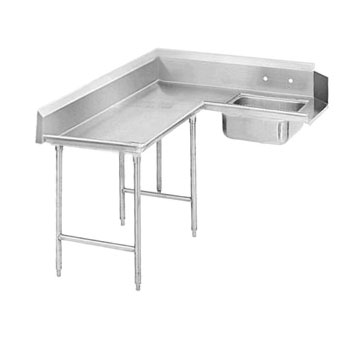 "Advance Tabco DTS-K70-144L 143"" Korner Soil Dishtable"