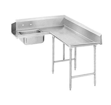 "Advance Tabco DTS-K70-60R 59"" Korner Soil Dishtable"