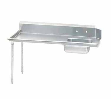 "Advance Tabco DTS-S60-84L 83"" Left to Right Straight Soil Dishtable"
