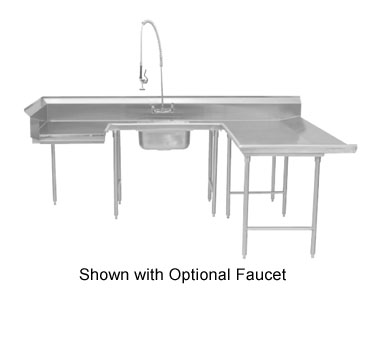 "Advance Tabco DTS-U30-72R 72"" U Shape Soil Dishtable"