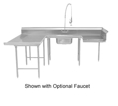 "Advance Tabco DTS-U30-84L 84"" U Shape Soil Dishtable"