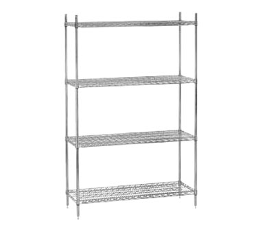 "Advance Tabco EC-1442 14"" x 42"" Chrome Wire Shelving"