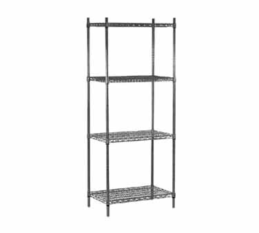 "Advance Tabco EG-1442 14"" x 42"" Green Epoxy Coated Wire Shelving"
