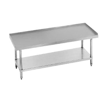 "Advance Tabco ES-247 Stainless Steel Equipment Stand with Stainless Steel Undershelf 84"" x 24"""