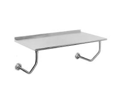 "Advance Tabco FSS-W-244 24"" x 48"" Wall Mount Table With Backsplash and Rolled Rim"