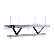 "Advance Tabco GC-120 120"" Galvanized Steel Ceiling Mounted Pot Rack"
