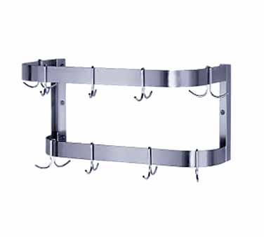 """Advance Tabco GW-144 144"""" Wall Mounted Pot Rack with Double Bar"""