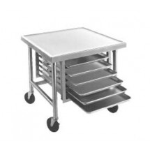 "Advance Tabco MT-MS-300 30"" x 30"" Mobile Mixer Table With Stainless Steel Base and Tray Slides"