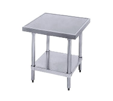 """Advance Tabco MT-SS-242 Stainless Steel Mixer Table with Undershelf 24"""" x 24"""""""