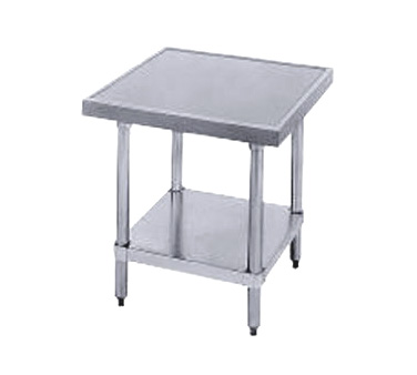 "Advance Tabco MT-SS-242 24"" x 24"" Equipment Stand With Stainless Steel Legs, Top and Undershelf"
