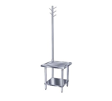 "Advance Tabco MX-GL-242 Stainless Steel Mixer Table with Utensil Rack and Galvanized Undershelf 24"" x 24"""