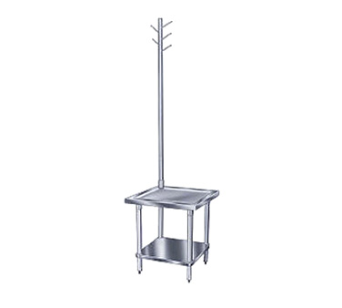 "Advance Tabco MX-GL-363 36"" x 36"" Stainless Steel Equipment Stand with Utensil Rack and Galvanized Undershelf"