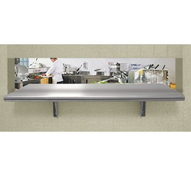 "Advance Tabco PA-18-132 18"" x 132"" Pass-Thru Shelf"