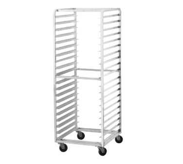 Advance Tabco PR15-4WS Side Load Mobile Bun Pan Rack, 15-Pan Capacity