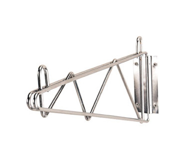 "Advance Tabco SB-18 18"" Wall Shelf Bracket, Single Mount for Chrome Wire Shelving"