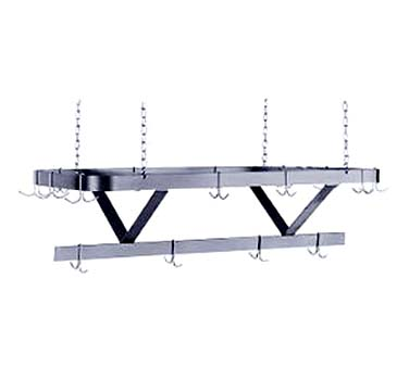 """Advance Tabco SC-144 144"""" Stainless Steel Ceiling Mounted Pot Rack"""