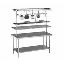 "Advance Tabco SCT-48 48"" Table Mounted Pot Rack, 12 Hooks"