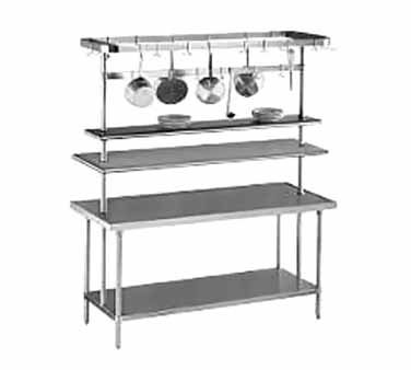 "Advance Tabco SCT-60 60"" Table Mounted Pot Rack, 18 Hooks"