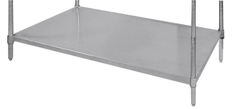 "Advance Tabco SH-1848 18"" x 48"" Solid Stainless Steel Shelf"