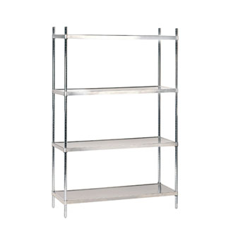 "Advance Tabco SHC-1848 18"" x 48"" Solid Stainless Steel Shelving Combo"