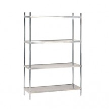"Advance Tabco SHC-2460 24"" x 60"" Solid Stainless Steel Shelving Combo"