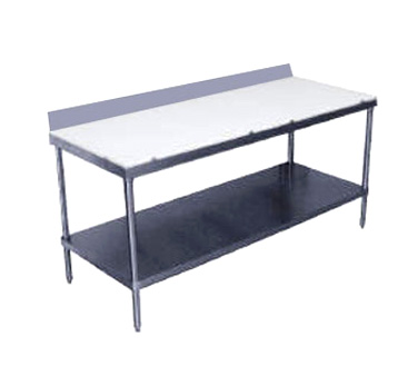 "Advance Tabco SPS-246 Poly Top Work Table - 24"" x 72"""