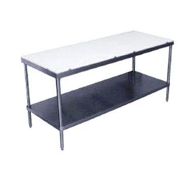 """Advance Tabco SPT-244 Poly Top Work Table with Undershelf 24"""" x 48"""""""