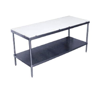 "Advance Tabco SPT-246 Poly Top Work Table with Undershelf - 24"" x 72"""