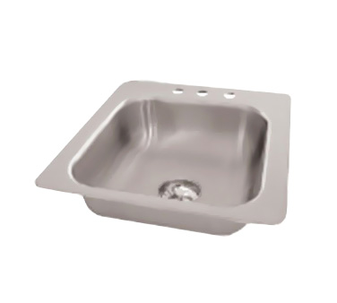 "Advance Tabco SS-1-1919-7 One Compartment Drop-In Sink, 16"" x 14"" x 7-1/2"""
