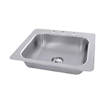 "Advance Tabco SS-1-2321-7 One Compartment Drop-In Sink,20"" x 16"" x 7-1/2"""