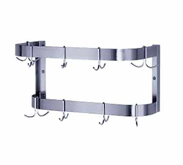 """Advance Tabco SW-84 Wall Mounted Pot Rack with Double Bar 84"""""""