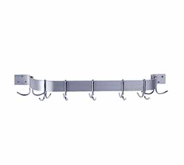"Advance Tabco SW1-96 96"" Wall Mounted Pot Rack with Single Bar"