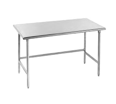 "Advance Tabco TGLG-244 Stainless Steel Work Table with Open Base 24"" x 48"""