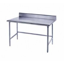 Advance-Tabco-TKMG-304-Open-Base-Stainless-Steel-Work-Table-With-5-quot--Backsplash---30-quot--x-48-quot-