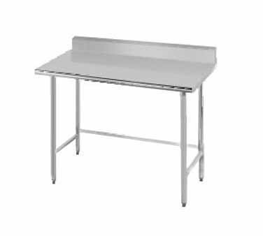 "Advance Tabco TKMS-305 Stainless Steel Open Base Work Table with 5"" Backsplash"