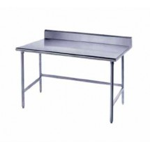 """Advance Tabco TKSS-242 Stainless Steel Open Base Work Table with 5"""" Backsplash  24"""" x 24"""""""