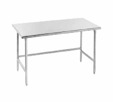 "Advance Tabco TMS-245 Stainless Steel Work Table with Open Base 24"" x 60"""