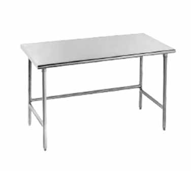 "Advance Tabco TSAG-242 Open Base Stainless Steel Work Table - 24"" x 24"""