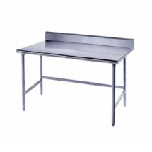 """Advance Tabco TSKG-242 Stainless Steel Open Base Work Table with 5"""" Backsplash  24"""" x 24"""""""