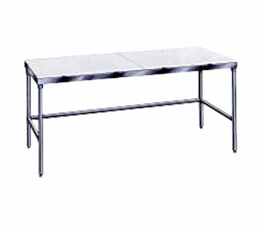 "Advance Tabco TSPT-244 Poly Top Work Table with Open Base - 24"" x 48"""