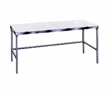 """Advance Tabco TSPT-245 Poly Top Work Table with Open Base 24"""" x 60"""""""