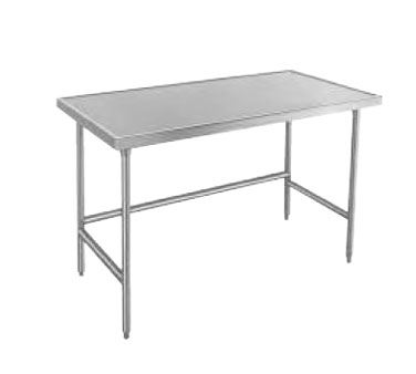 "Advance Tabco TVLG-484 Open Base Stainless Steel Work Table With 10"" Backsplash - 48"" x 48"""