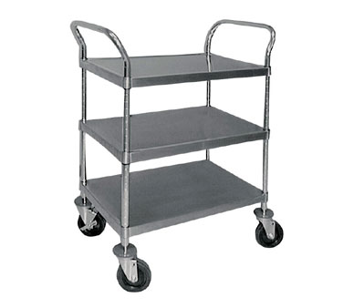 "Advance Tabco UC-3-1827 Chrome Wire Utility Cart with Three Shelves, 18"" x 27"""