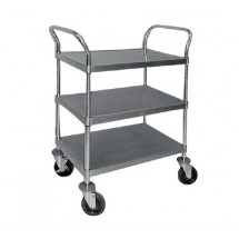 "Advance Tabco UC-3-2433 Chrome Wire Utility Cart with Three Shelves, 24"" x 33"""