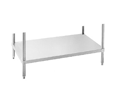 "Advance Tabco UG-24-132 24"" x 132"" Adjustable Work Table Undershelf - 18 Gauge Galvanized Steel"