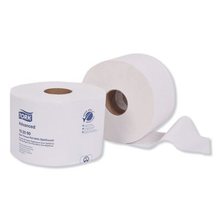 Advanced 2-Ply Bath Tissue Roll with OptiCore, 865 Sheets/Roll, 36/Carton