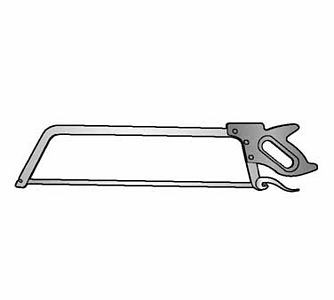 Alfa International 6050-25 25'' Hand Meat Saw