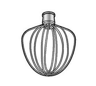 Alfa International K5WNSF 5 Qt. KitchenAid Wire Whip