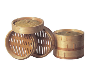 "Allied Metal BST8 3 -Tier 8"" Bamboo Steamer  - 10 pcs"