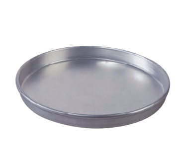 "Allied Metal CP14X15 Aluminum Pizza Pan 14"" x 1-1/2"""